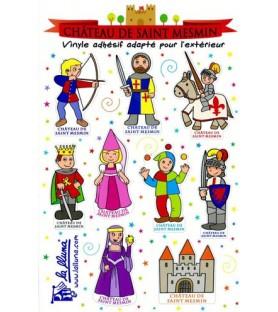 Stickers personnages château Saint Mesmin