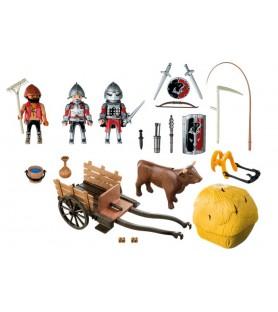 Chevalier de l'aigle avec charrette piégée  6005 Playmobil