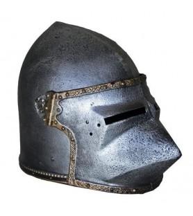 Casque médiéval enfant  Bassinet à tête de chien