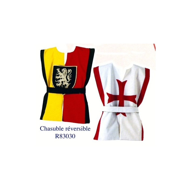 Tunique réversible Chevalier et Templier