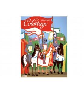 Coloriage Les 3 chevaliers