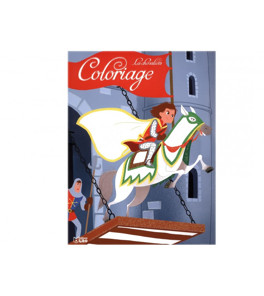 Coloriage la fuite du chevalier