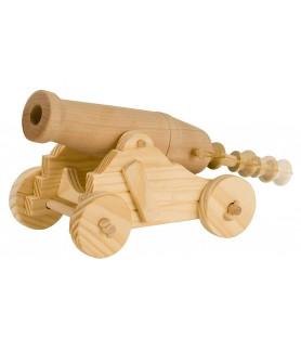 Maquette canon en bois
