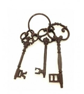 3 clefs look historique en métal