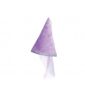 Chapeau scintillant lilas