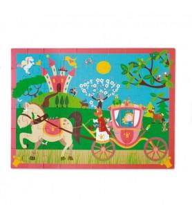 Scratch Puzzle carrosse de princesse