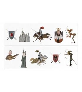 Tatouage médiéval chevalier