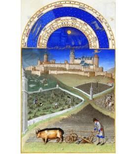 """Carte postale """"Les très riches Heures du duc de Berry"""" Mars"""