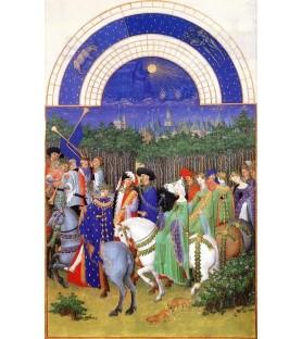 """Carte """"Les très riches Heures"""" Carte postale """"Les très riches Heures du duc de Berry"""" Mai"""