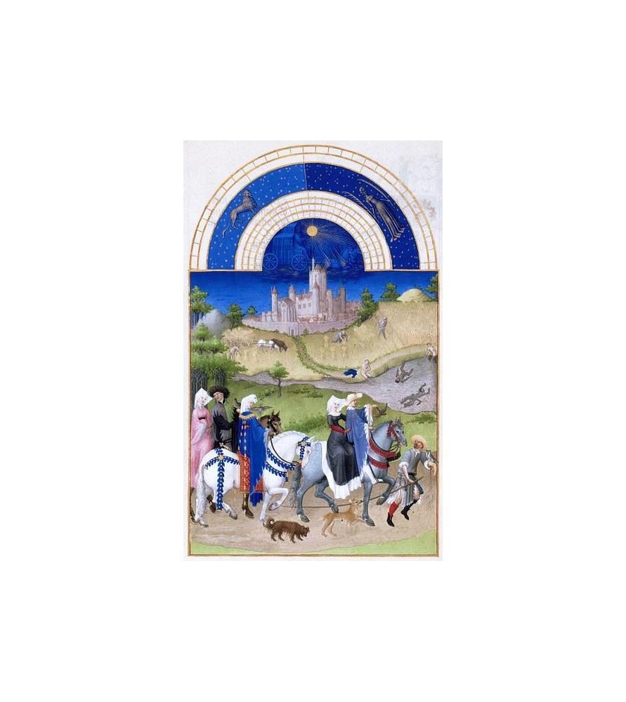 """Carte postale """"Les très riches Heures du duc de Berry"""" Août"""
