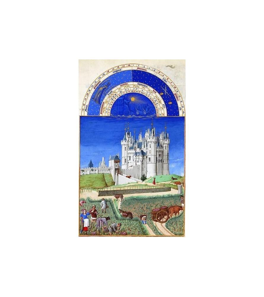 """Carte postale """"Les très riches Heures du duc de Berry"""" Septembre"""