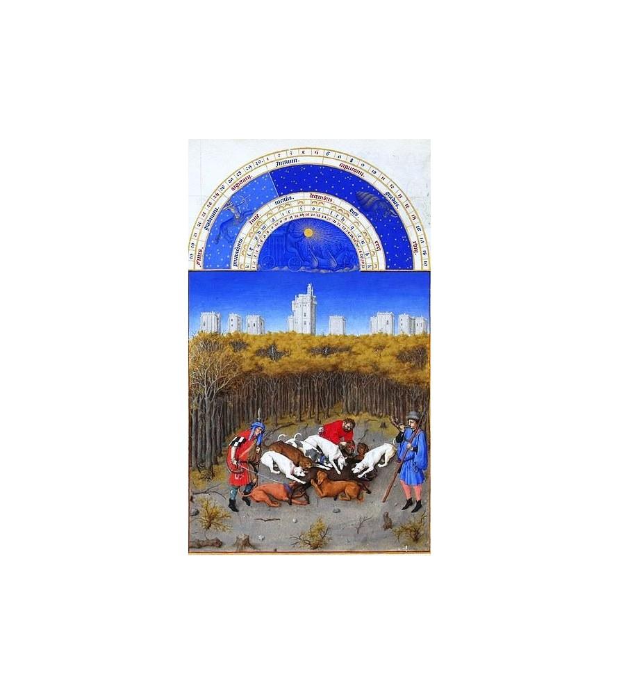 """Carte postale """"Les très riches Heures du duc de Berry"""" Décembre"""