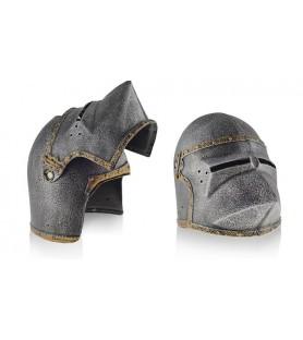 Casque médiéval Bassinet à tête de chien