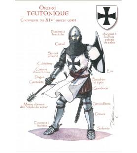 Carte postale Ordre Teutonique, Chevalier du XIVème siècle