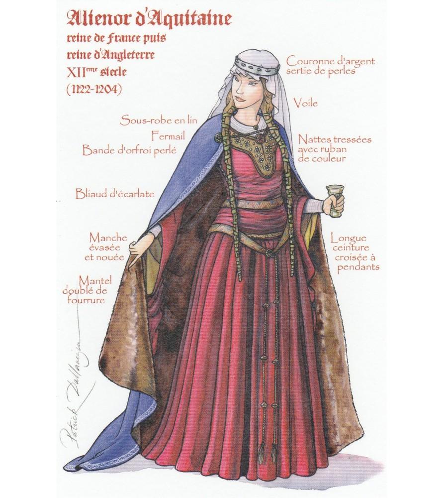 Carte postale Aliénor d'Aquitaine