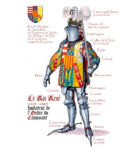 Carte postale Le roi René d'Anjou