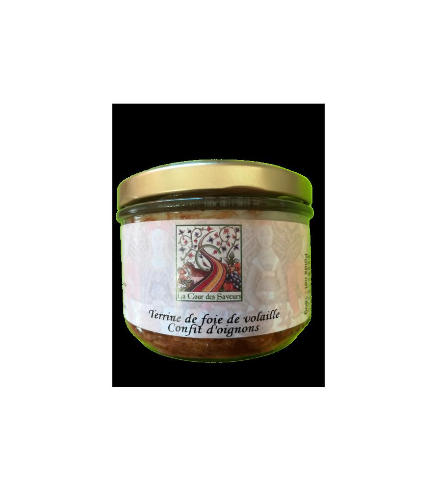 Terrine de foie de volailles confit d'oignons
