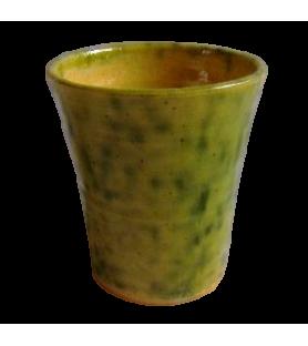 Petit gobelet émaillé vert