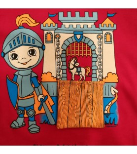 T-shirt chevalier au...