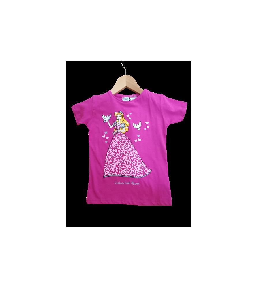 T-shirt rose princesse Paloma