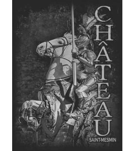 T-shirt noir adulte chevalier château saint mesmin