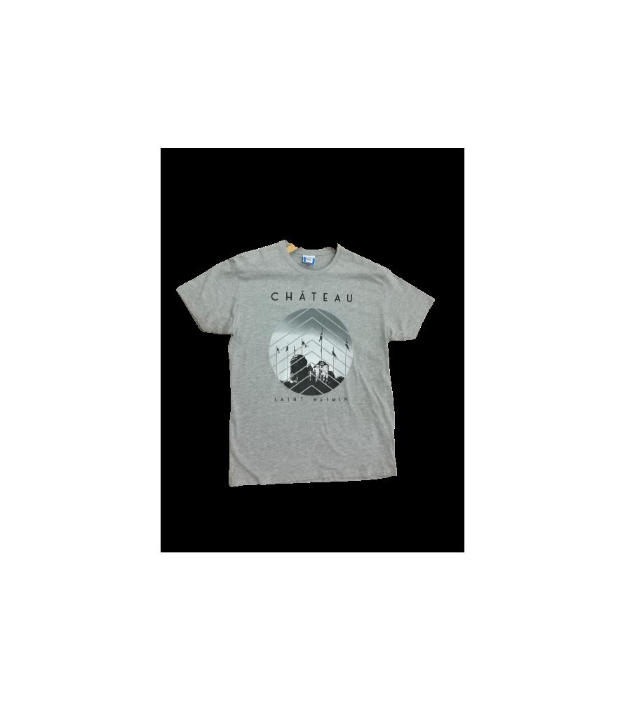 T-Shirt gris adulte Château
