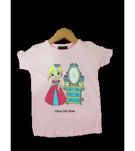 T-Shirt princesse rose au...