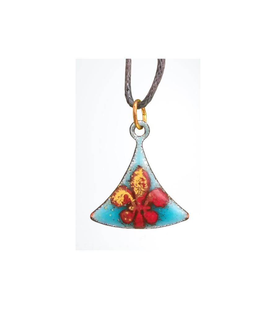 Pendentif émaillé fleur de lys