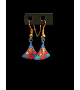 Boucles d'oreille émaillées fleur de lys