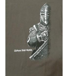 T-shirt gris enfant Chevalier