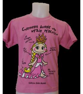 Tshirt rose comment devenir une vraie princesse