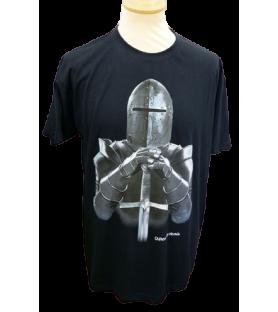T-shirt noir enfant armure