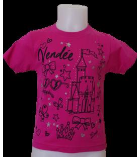 T-shirt enfant princesse château