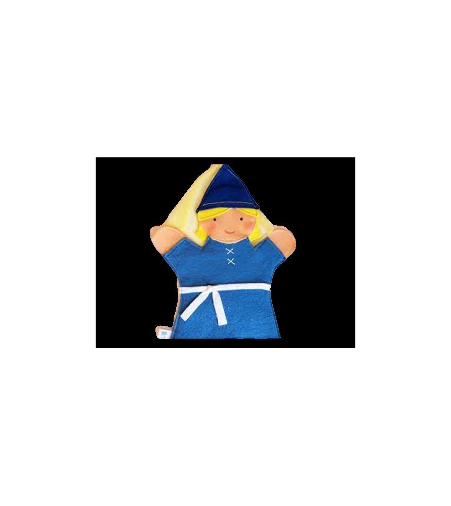 Marionnette à main Princesse bleue