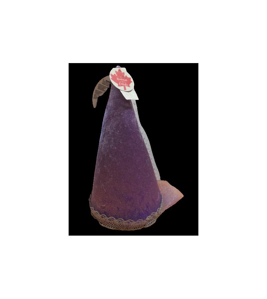 Chapeau médiéval scintillant lilas