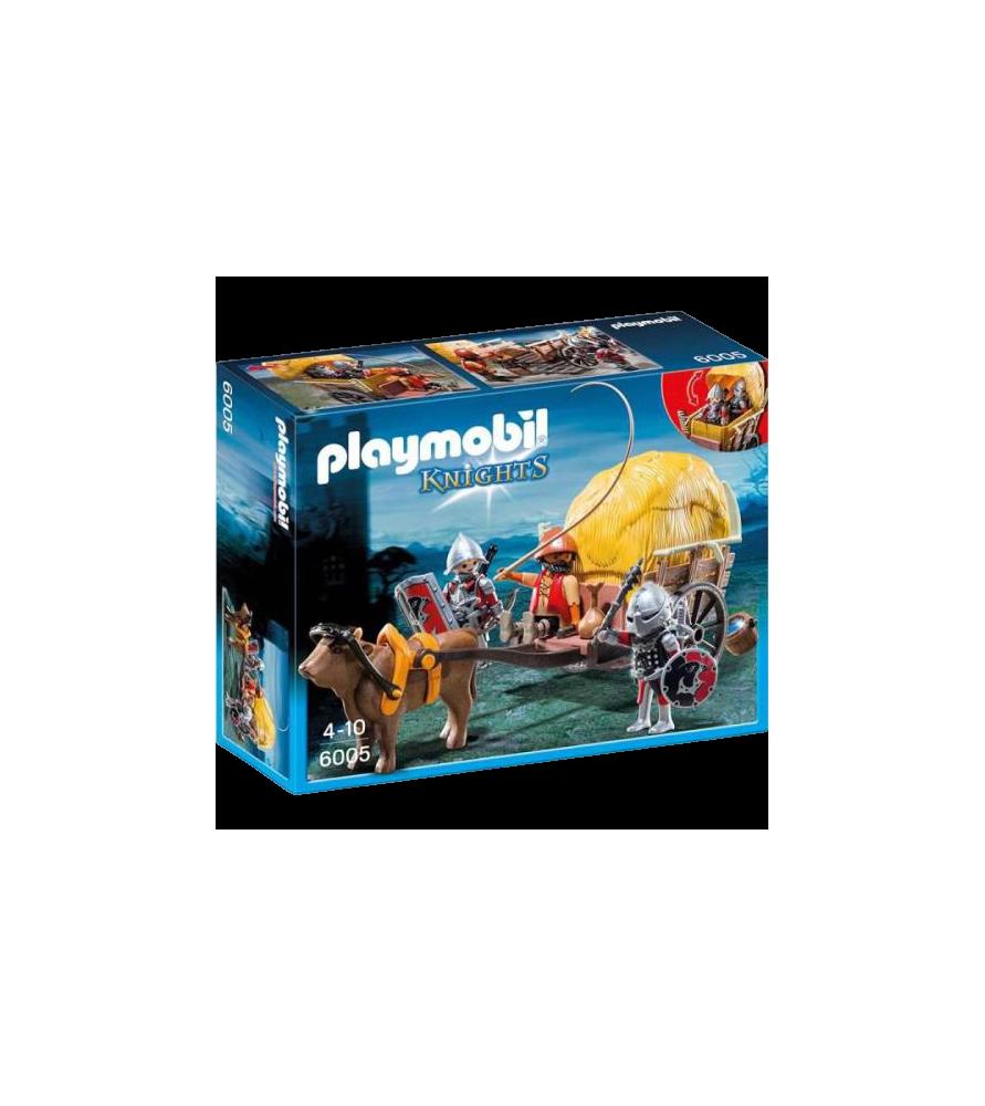 Playmobil® Chevalier de l'aigle avec charrette piégée - 6005