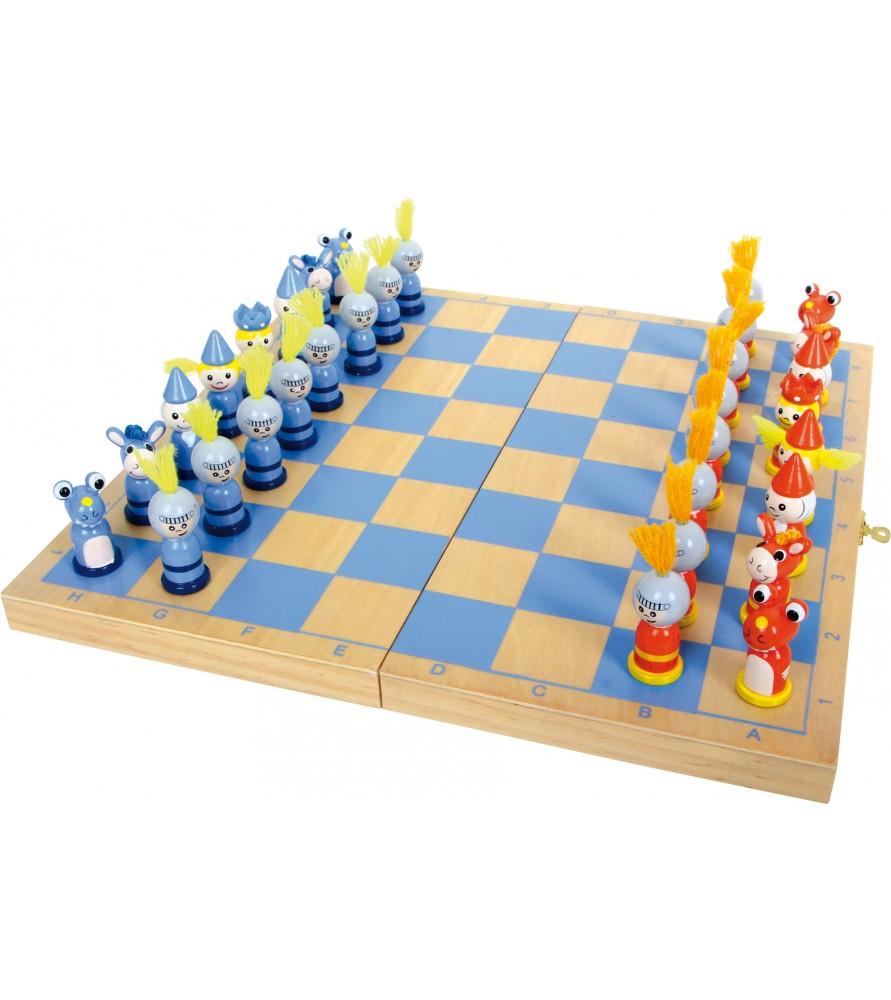 Jeu d'échecs chevaliers du moyen age