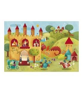 Puzzle géant Le château-fort