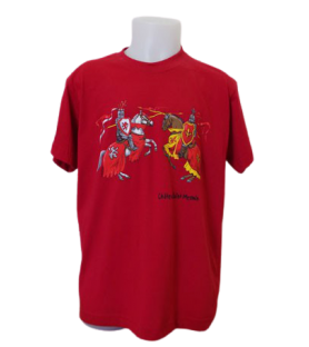 T-shirt rouge enfant chevalier