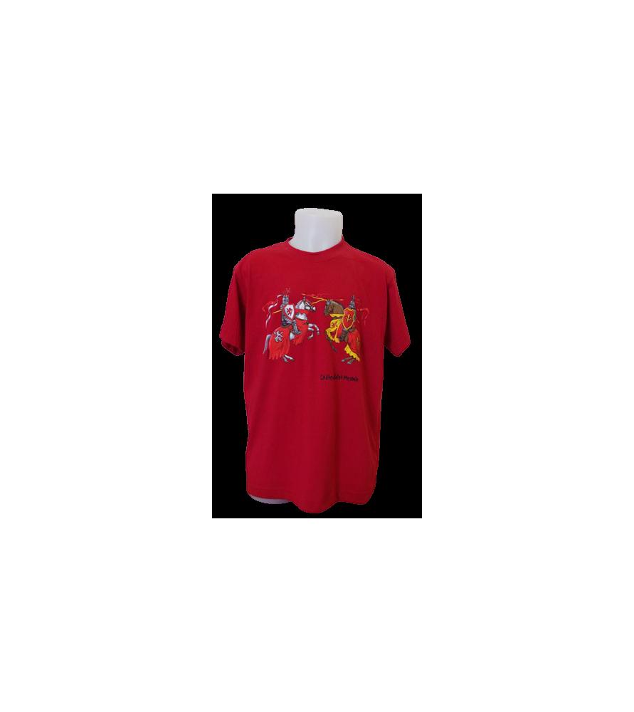T-shirt rouge enfant chevalier
