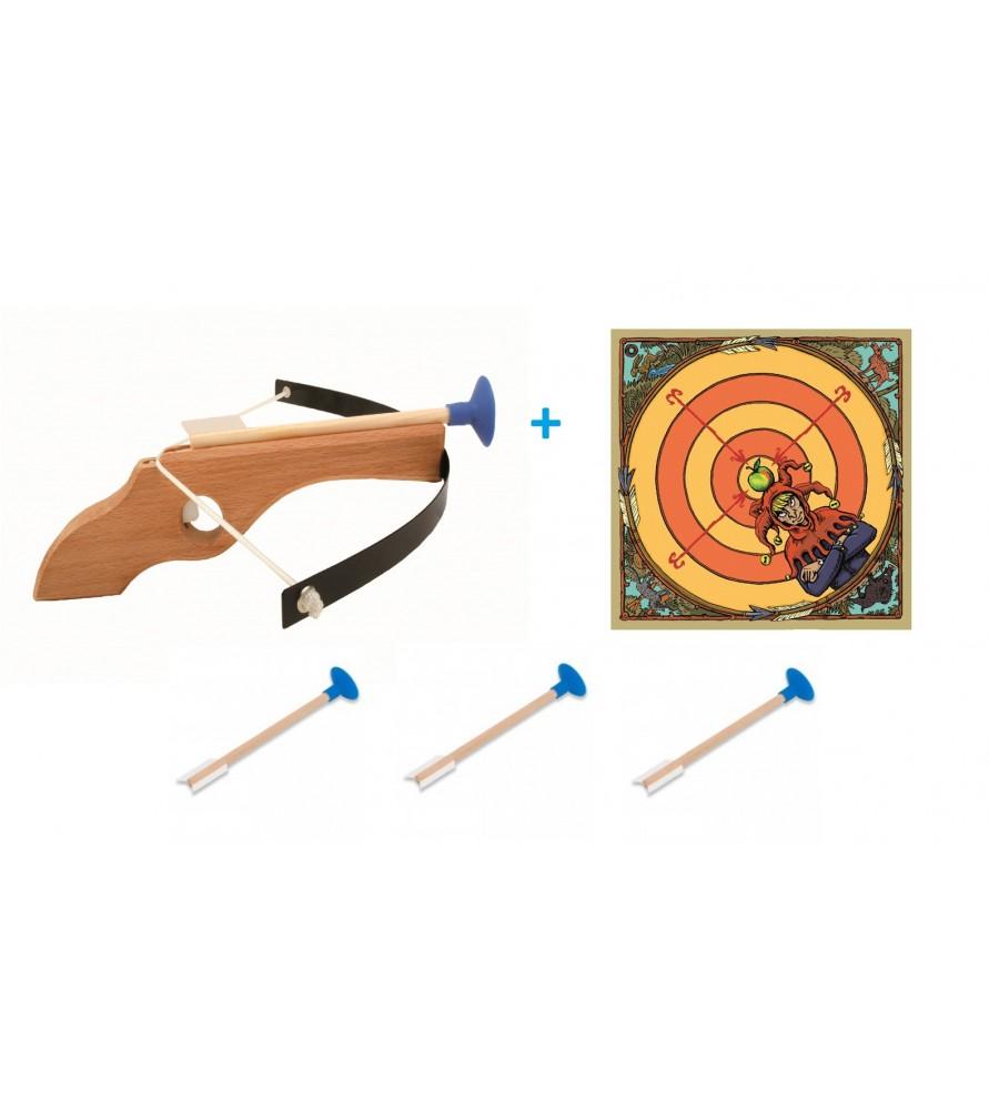 Arbalète WIKI cible et 3 flèches