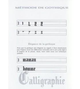 Livret méthode apprentissage de la gothique