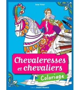 Coloriage Les chevaleresses et chevaliers