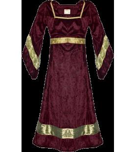 Robe médiévale bordeaux de...