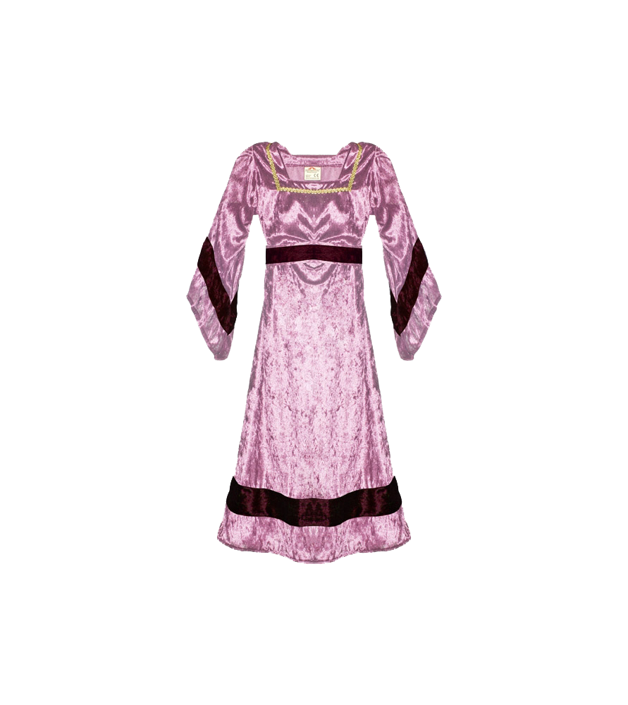 Robe médiévale de petite châtelaine rose