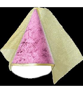 Chapeau de princesse rose