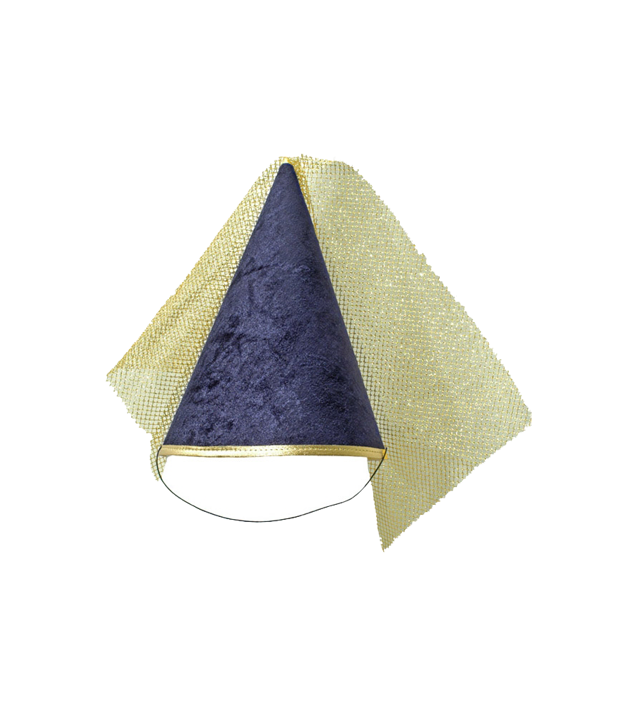 Chapeau de princesse bleu