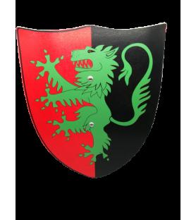 Bouclier médiéval en bois dragon