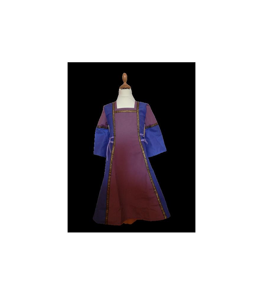 Robe médiévale violette de princesse