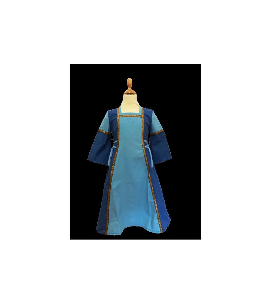 Robe médiévale bleue de princesse